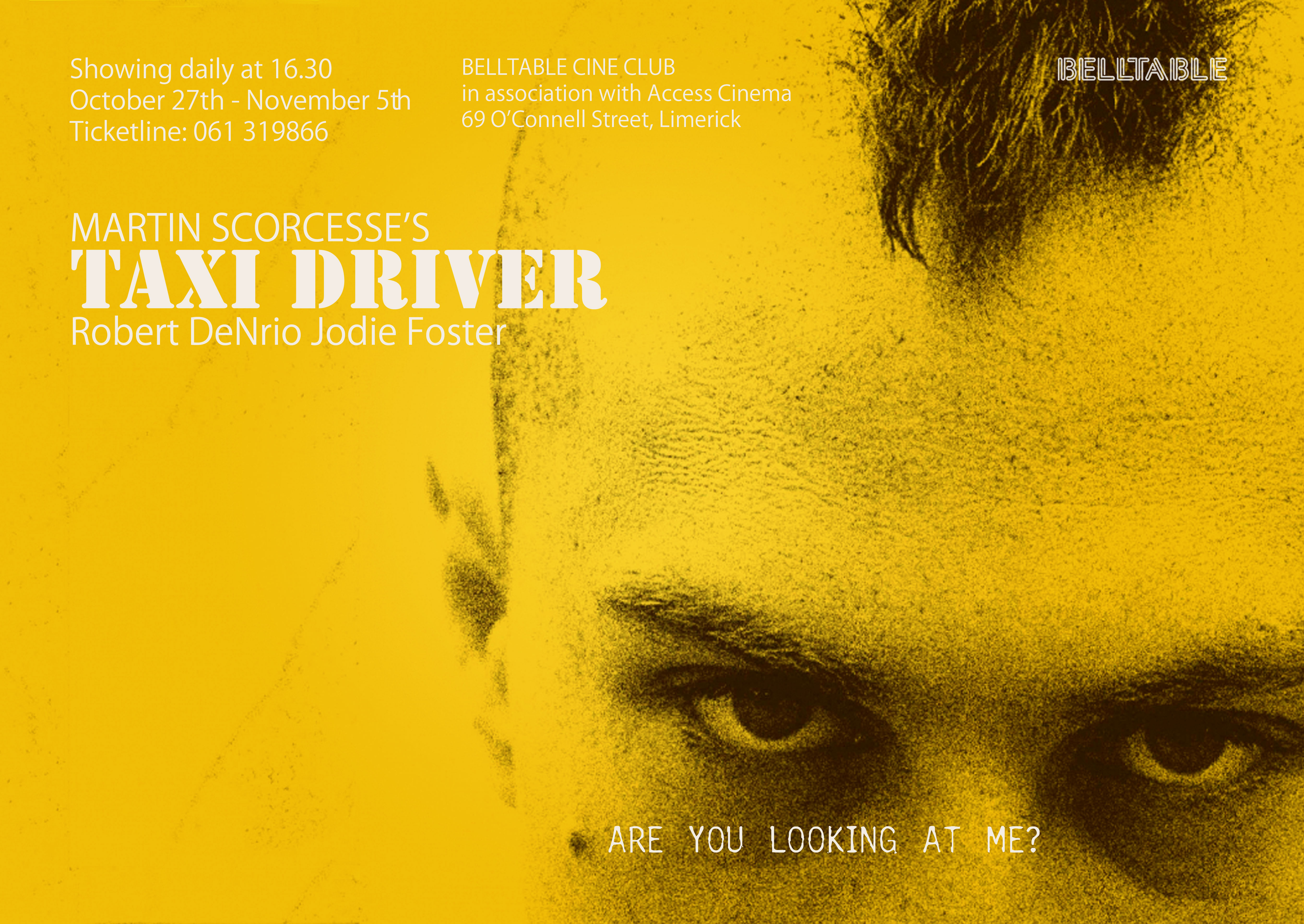 taxi driver film essay An essay or paper on the taxi drivers taxi drivers, we see them everyday and can regard them as any other day-to-day worker however, more than likely, society.
